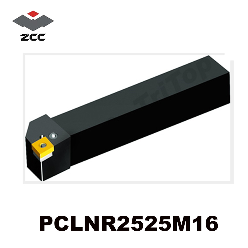 ZCC CT CNC External turning tool holder PCLNR2525M16 top quality tungsten carbide insert tool shank right
