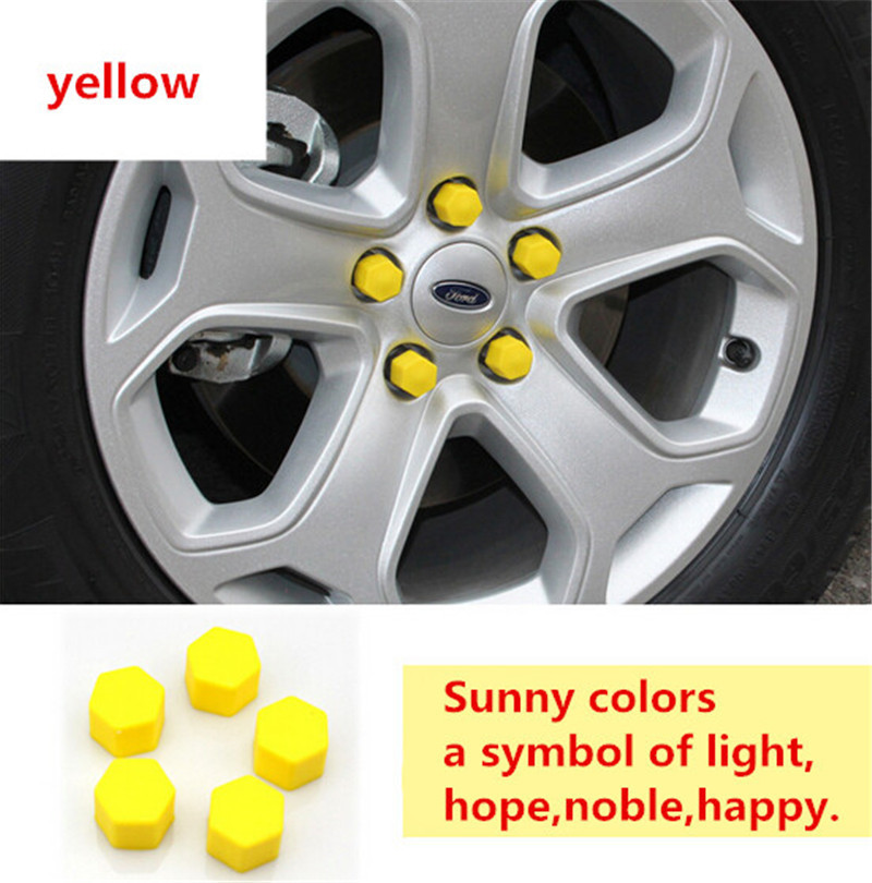 Car Accessories Car-Styling Hub Screw Wheel Decoration Cover For Volvo V40 V60 S60L S80 Xc80 Xc90 19MM Silicon 20Pcs Per Set