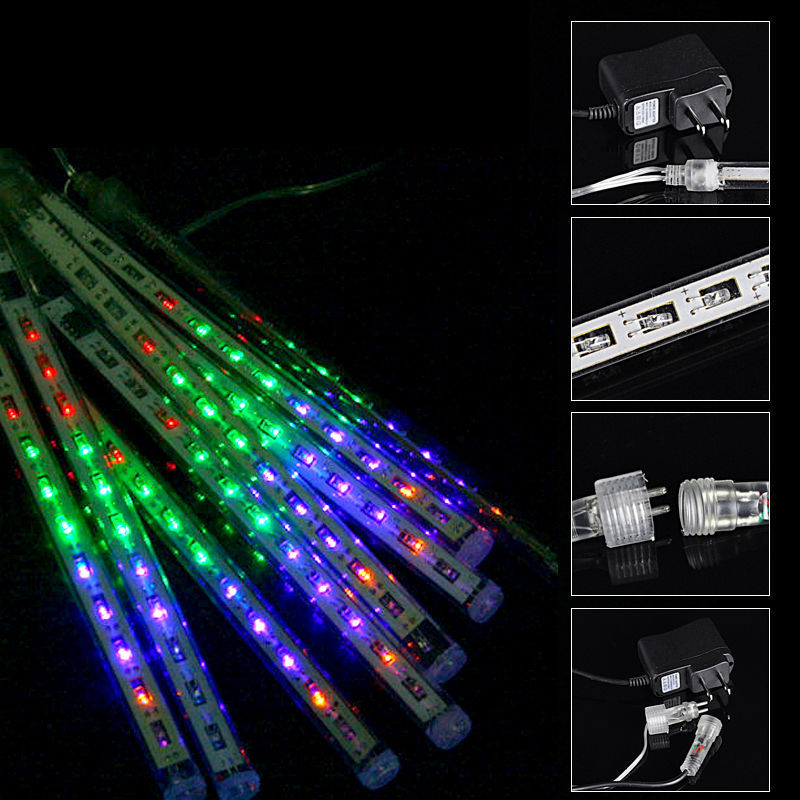 Fairy 20cm Waterproof LED Christmas lights outdoor Meteor Shower Rain Tube Lights string ...