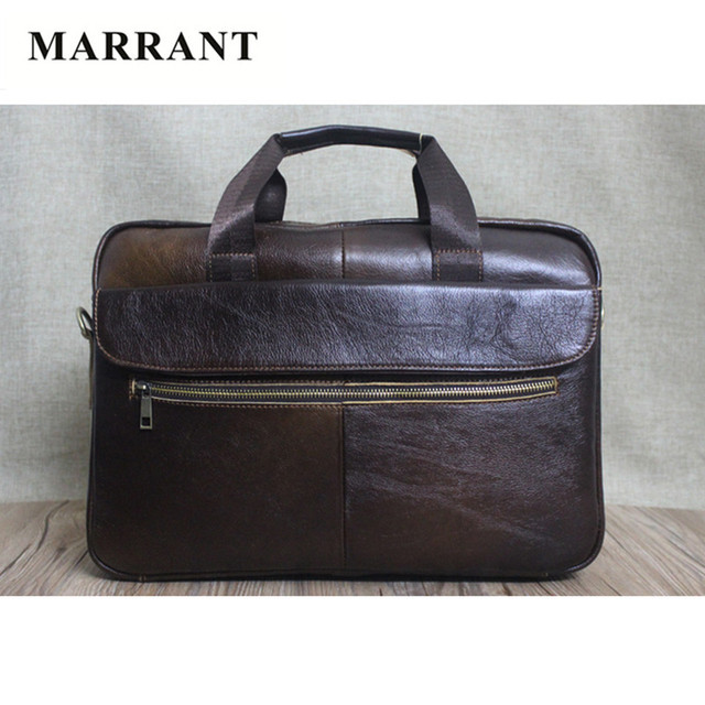 85522d75f659 MARRANT Best Selling 100% Genuine Leather Handbags Briefcase Business  Vintage Men Messenger Bags Solid Shoulder Bag Laptop Bags-in Briefcases  from ...