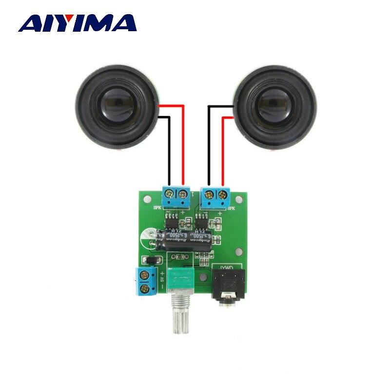 Aiyima Stereo-klasse-d-digitalverstärker 3 Watt 5 Watt Stereo Computer USB Leistungsverstärkerplatine Mit Doppel 4ohm 3 Watt lautsprecher
