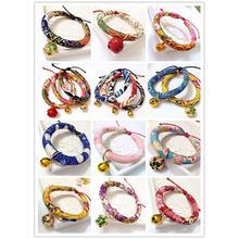 Японский стиль ручной работы ошейник для питомца кошки собаки японский стиль ожерелье маленький и средний размер регулируемый воротничок товары для животных