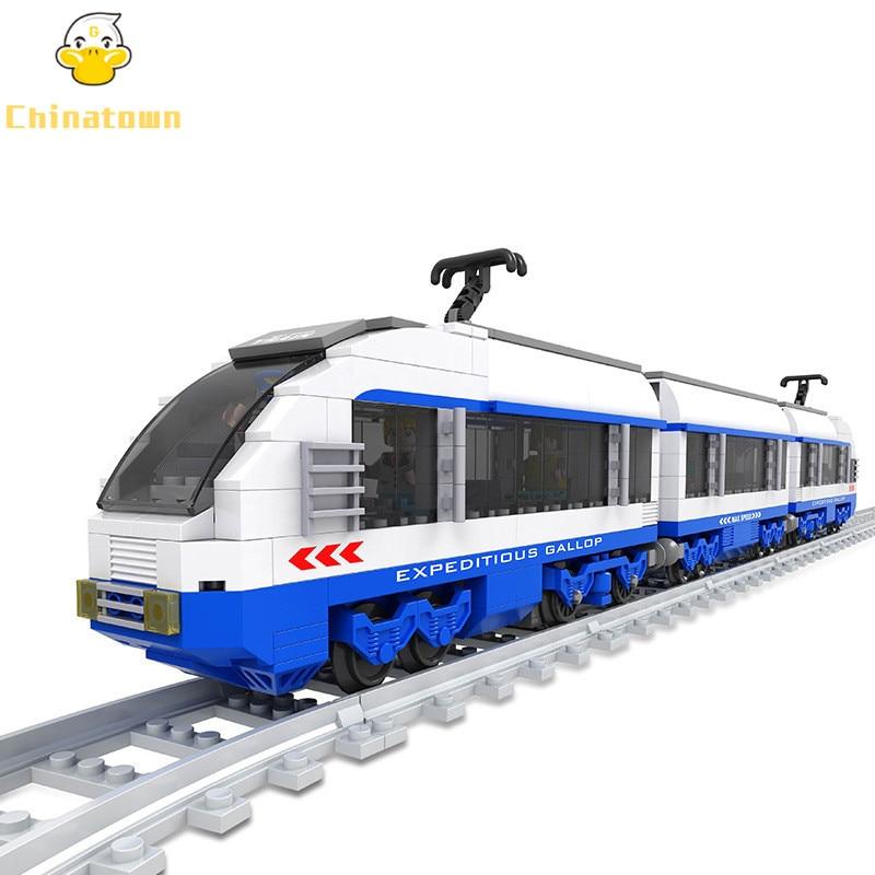 City Technic Development Train High-speed Rail Maglev Train Building Blocks Set Bricks Classic Model Kids Toys Compatible Legoe