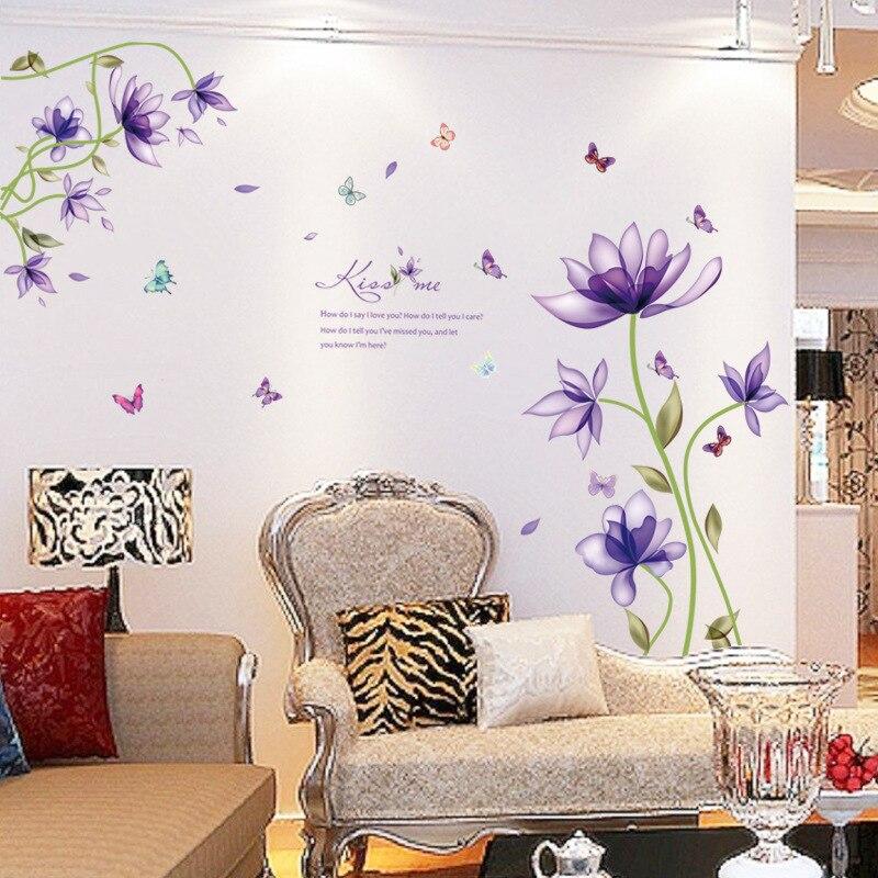 Live Love reír Mariposa Pared citar pared calcomanía de pegatinas de pared de decoración de pared