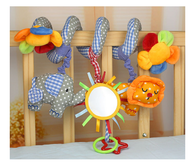 lovely infant toys baby crib revolves around the bed stroller playing carriage mirror hanging baby rattles