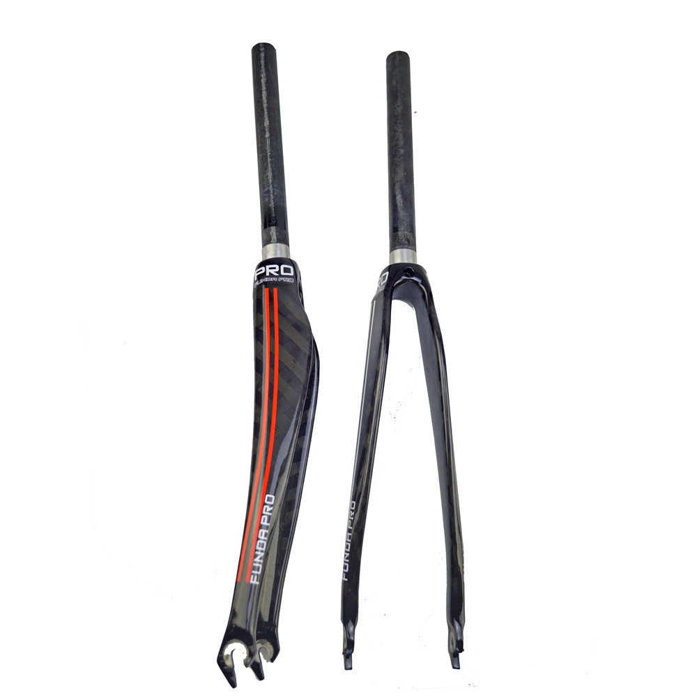 new full carbon fiber road bike front fork 700c wheels 1-1/8 28.6mm  12k gloss offset 45mm bicycle parts  Riding equipment carbon drop handle bars road bike handlebar matt or gloss black 31 8 420mm