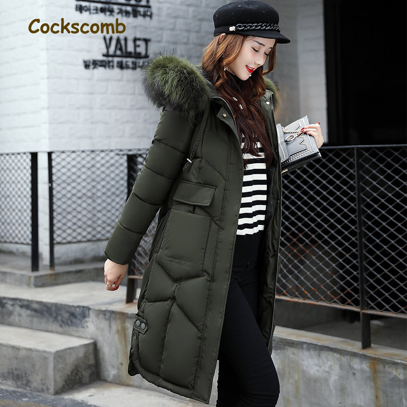 Cockscomb Brand Sides Split Winter Parkas Women Plus Size Cotton Wadded Thick Warm Coat Outerwear Woman Faux Fur Hooded Jacket