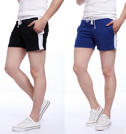 Men fashion thin cotton tight fitting running gym shorts 8 colors ...