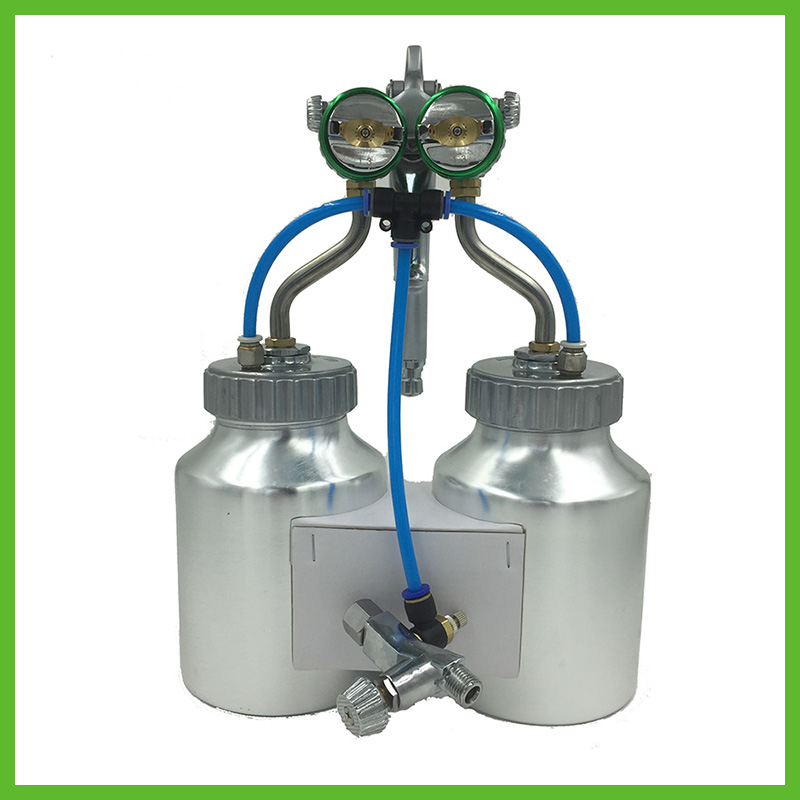 SAT1200  Airbrush Spray Gun Air Compressor Paint For Airbrush Hvlp Spray Chrome Paint Gun Silver Mirror Airbrush Double Nozzle sat1189 free shipping dual head spray gun paint spray gun air compressor silver mirror chrome spray gun hvlp