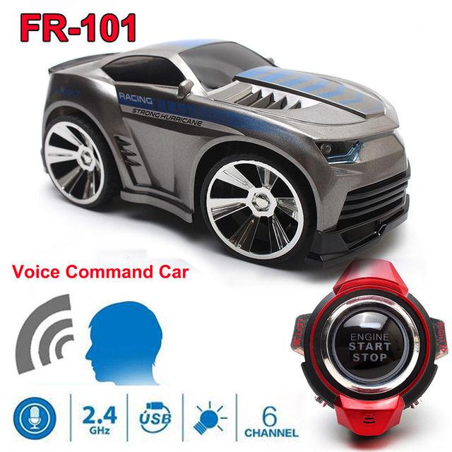 Бесплатная Доставка! высокая Скорость FR-101 2.4 Г 6CH RC Гоночных Автомобилей Мини Автомобилей w/Smart Смотреть Голос Пульт Дистанционного Управления