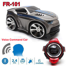 Free Shipping! High Speed FR-101 2.4G 6CH RC Racing Cars Mini Vehicles w/Smart Watch Voice Remote Control