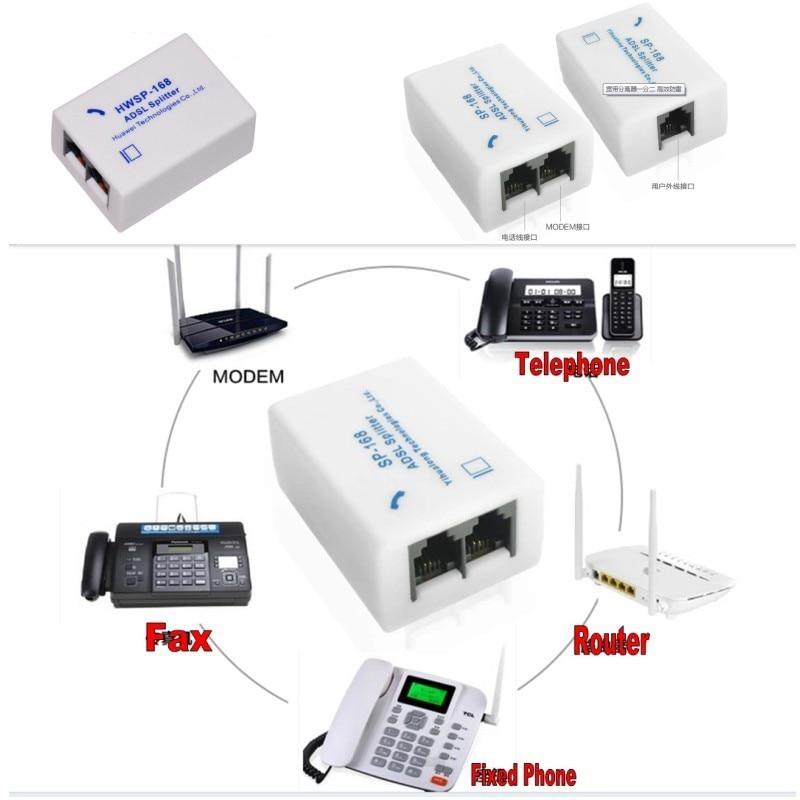 Qty 2 New ADSL Splitter//Filter for DSL Modem /& Telephone Line