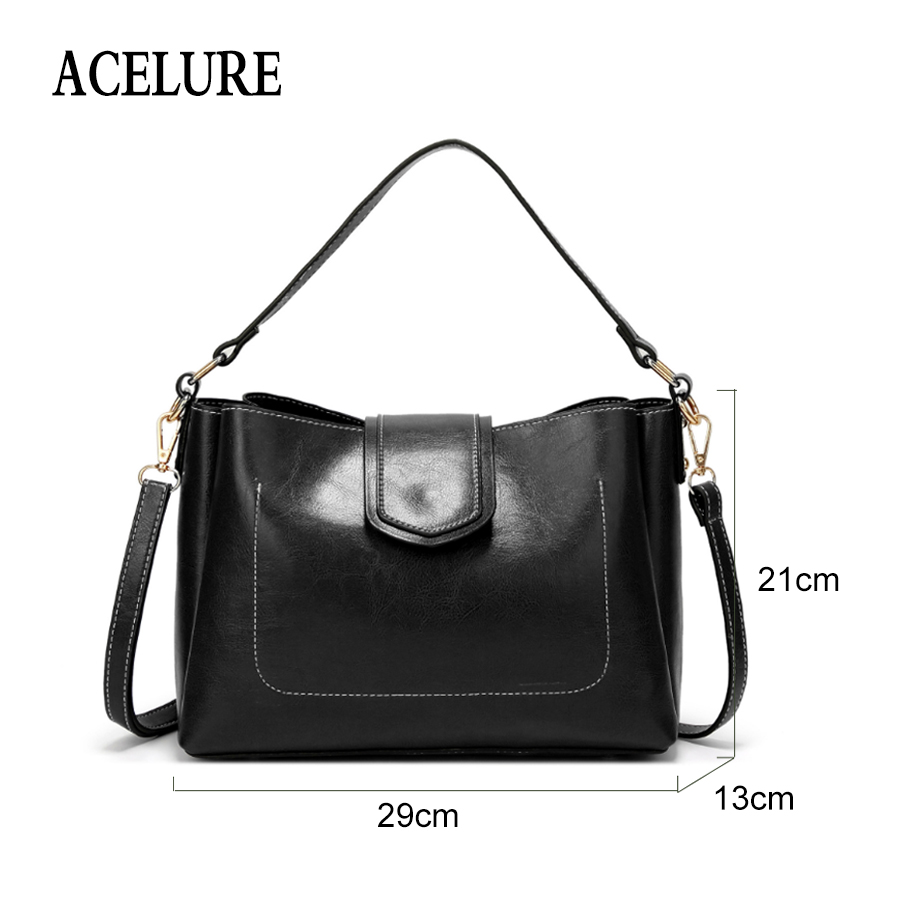 ACELURE Solid Color Pu Leather Crossbody Bags Simple Style Women Shoulder  Bag Minimalist Style Ladies Bag All match Casual Tote-in Shoulder Bags from  ... 7b4224a82af62