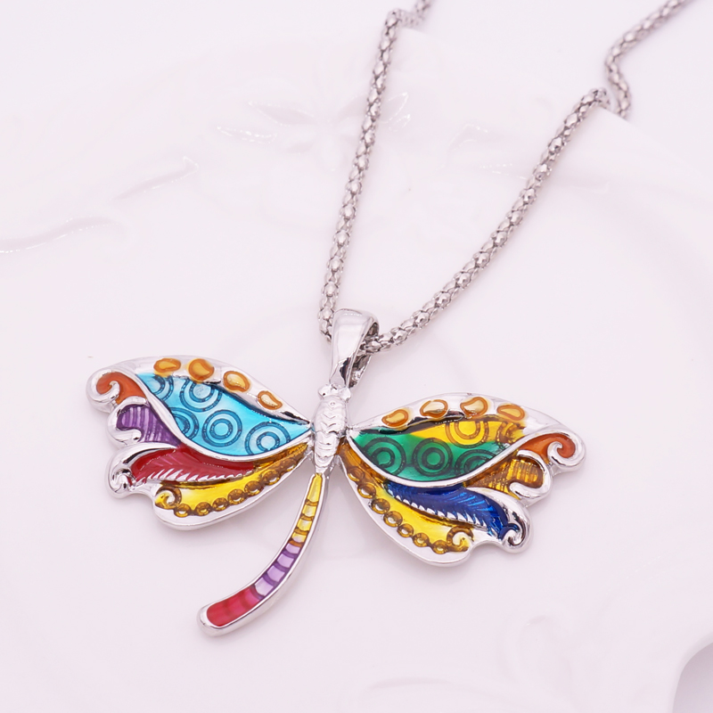 Fashion Enamel Dragonfly Jewelry Sets For Girls Gift Dragonfly ...