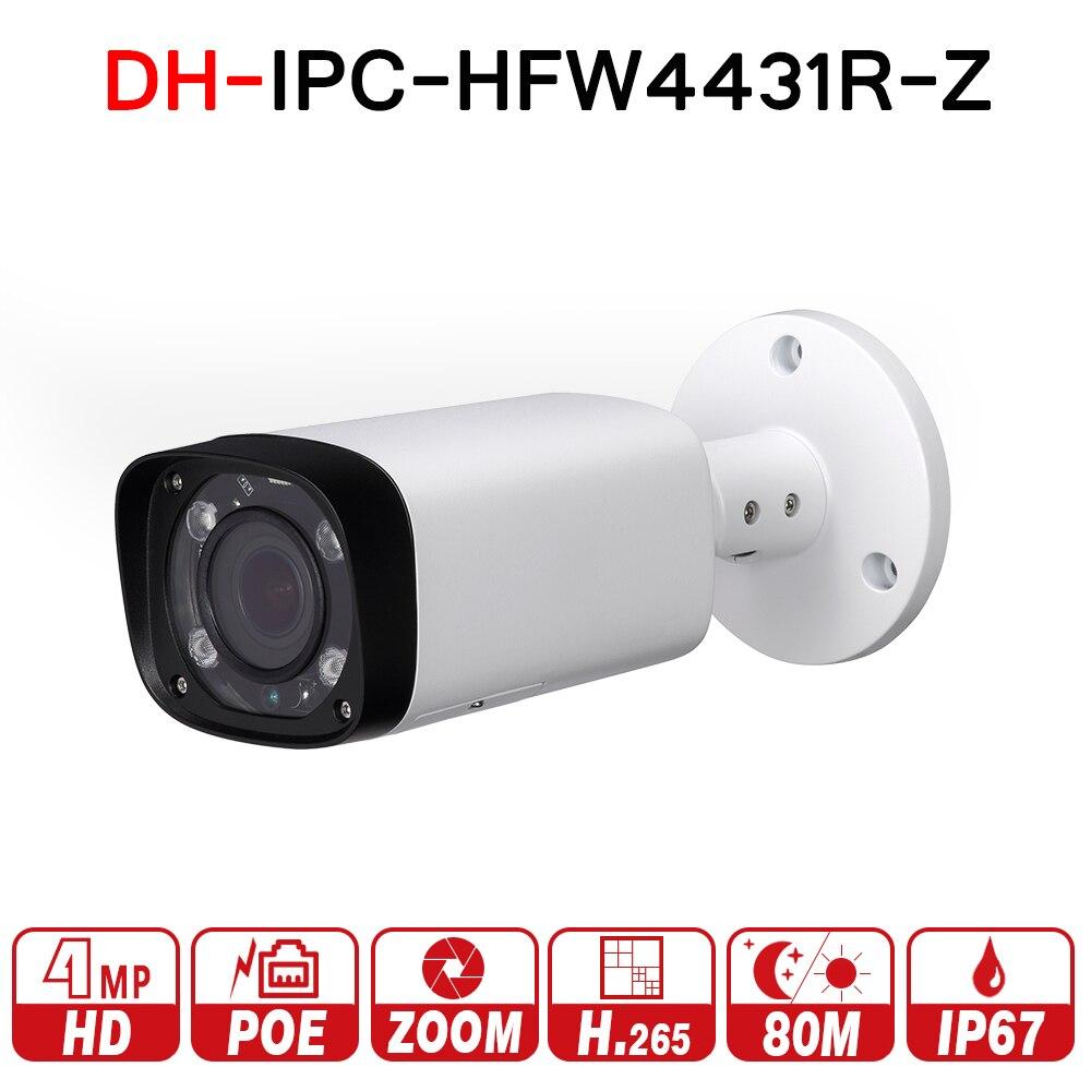 DH IPC-HFW4431R-Z 4MP Nacht Kamera 80 mt IR 2,7 ~ 12mm VF objektiv Motorisierte Zoom Autofokus Kugel IP kamera CCTV Sicherheit POE keine logo