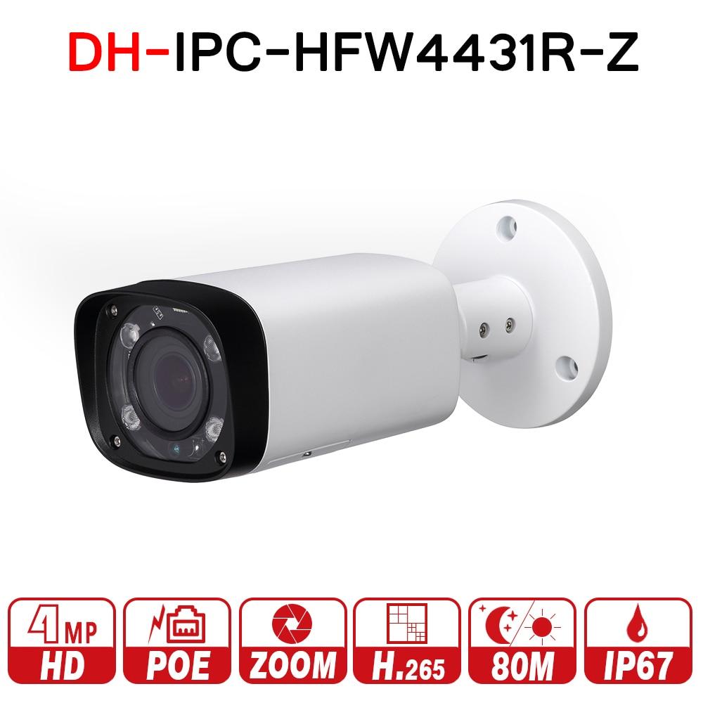DH IPC-HFW4431R-Z 4MP Night Camera 80m IR 2.7~12mm VF lens Motorized Zoom Auto Focus Bullet IP Camera CCTV Security POE no logo топливоснабжение no logo 7 10an auto