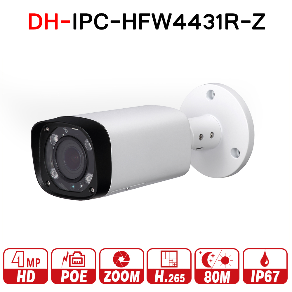 Dahua $ number mp Cámara Noche IPC-HFW4431R-Z 80 m IR con 2.7 ~ 12mm lente VF Motorizado de Zoom de Enfoque Automático de Bala Cámara IP