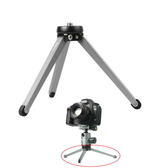 Selens Mini Foldable Desktop Camera Tripod Phone Support Legs Microphone Stand Holder Aluminium Le With Carrying