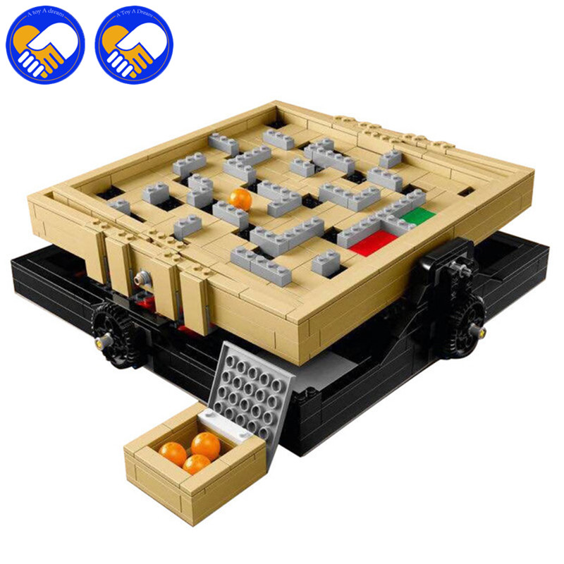 A TOY A DREAM New 39000 Genuine IDEAS Series The Creative Marbles Maze Game Set Building Blocks Bricks DIY Toys Compatible 16023 ctwj0780 creative toy diy toys drop shipping