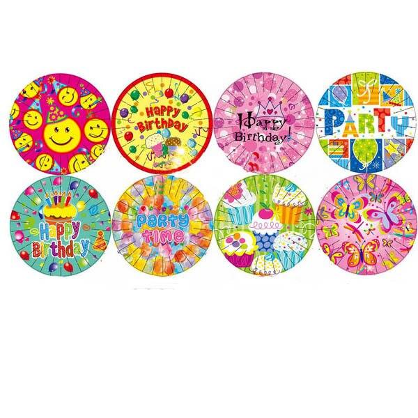 2017 new cartoon 718cm disposable paper plates for children boys girls celebration tableware - Decorative Paper Plates