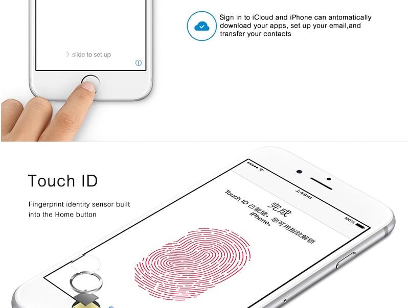 Unlocked Apple iPhone 6 1GB RAM 4.7inch IOS Dual Core 1.4GHz 8.0 MP 3G WCDMA 4G LTE iPhone 6 16GB gold 7