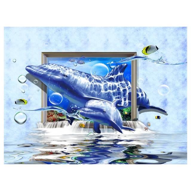 Sin marco de Dibujos Animados 3D Shark Pared Cuadros Para la Sala ...