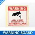 20 Unids/lote Protector Solar Resistente Al Agua PVC Inicio de Vigilancia de Seguridad CCTV Cámara de Vídeo Sticker Calcomanía de Advertencia Signos 80*80 MM