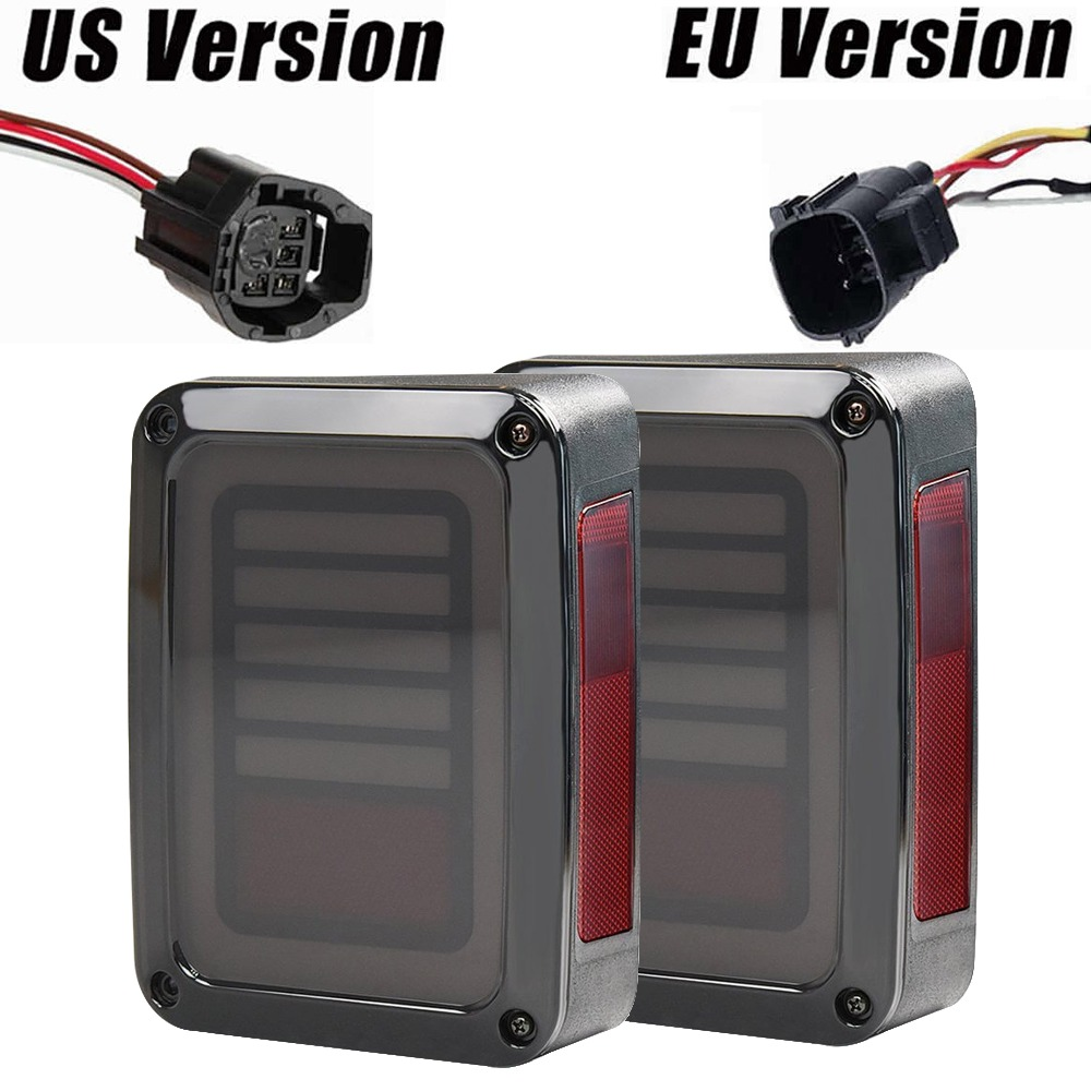 Image 2 - Tail Lights Lamp Rear Assemblies for Jeep Wrangler JK 2&4 Door 2007 2017 DOT E9 USA/EU edition reverser brake turn signal LED-in Car Light Assembly from Automobiles & Motorcycles