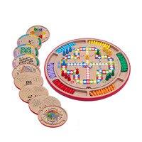 10 в 1 Многофункциональный Деревянные Шахматы, шашки детские развивающие игрушки родитель ребенок взаимодействия игра головоломка Flight шахм