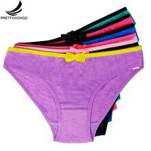 Prettywowgo 89040 Wholesale 2016 High Quality Cotton Women's Panties Briefs Women Underwear Panties