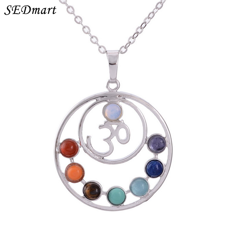 Sedmart indian 7 chakra healing crystal reiki natural stone yoga sedmart indian 7 chakra healing crystal reiki natural stone yoga pendant necklace heart round shape health amulet women necklace in pendant necklaces from mozeypictures Image collections