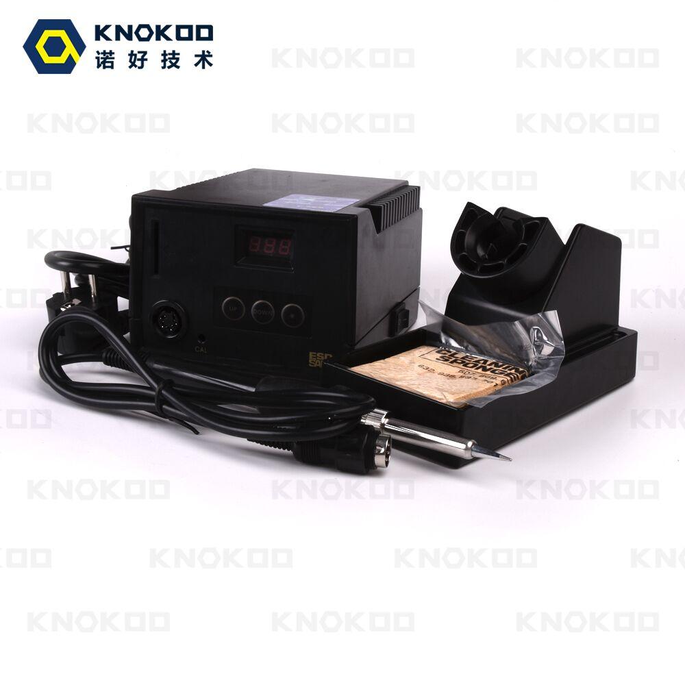 60W 110V/220V Digital Display KNOKOO 937 Leadfree Soldering Station with 5PCS 900M Soldering Tips knokoo di3000 holder for esd safe digital display intelligent temperature control soldering machine with c245 solder tips