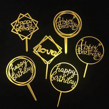 1PC Acrylic Cake Topper Birthday Cakes For Birthday Cupcake Baby Shower Party Wedding Decoration Supplies Cake Toppers Wedding(China)