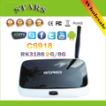 Bluetooth 1080 P wi-fi Media Player caixa de tv Q7 CS918 quad core Kodi Android 4.4 2 GB 8 GB RK3188T 28nm Cortex A9 mini pc TV Box