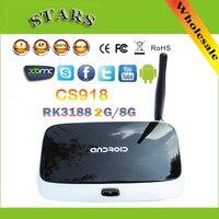 Bluetooth 1080 P wifi Media Player Q7 CS918 quad core Kodi tv box Android 4.4 2 GB 8 GB RK3188T Cortex A9 28nm mini pc TV Box