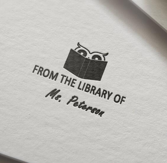 From The Library Of ,Library Stamp  Personalized Custom Name Stamp Self Inking  This Book Belongs To,  Back To School- 40mm