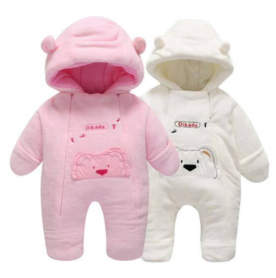 new 2018 hot sell winter thick cold-proof warm Baby Romper High quality newborn overalls