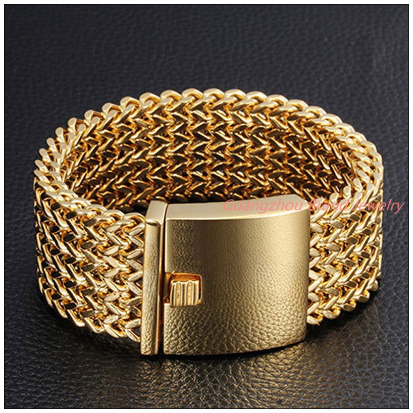 """12/18/30MM Hot Fashion 316L Stainless Steel Silver Gold Figaro Wheat Chain Mens Womens Bangle Bracelet 9"""" High Quality Good Gift"""