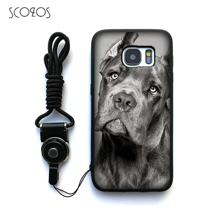 SCOZOS Italian dogs Cane Corso italian Case Cover For Samsung Galaxy S6 S7 S7 edge S8 S8 ...