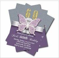 14 Pcs Lot Personalized Adult 60th Birthday Invitations 30th 40th 50th 70th 80th 90th