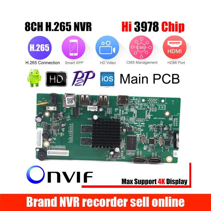 8CH CCTV H.265 NVR Board 4K/5MP/4MP HI3798M Security NVR Module 4CH 5MP / 8CH 4MP XMEYE P2P Mobile Monitoring Cloud Viewing