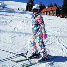 Лыжный костюм, женский костюм для сноуборда, куртка+ Двойные лыжные штаны, новинка, ветронепроницаемая Водонепроницаемая женская зимняя теплая куртка