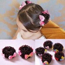 Isnice/милые детские аксессуары для волос с бантом; эластичные резинки для волос; резиновые ободки из мягкой ткани; головной убор для девочек