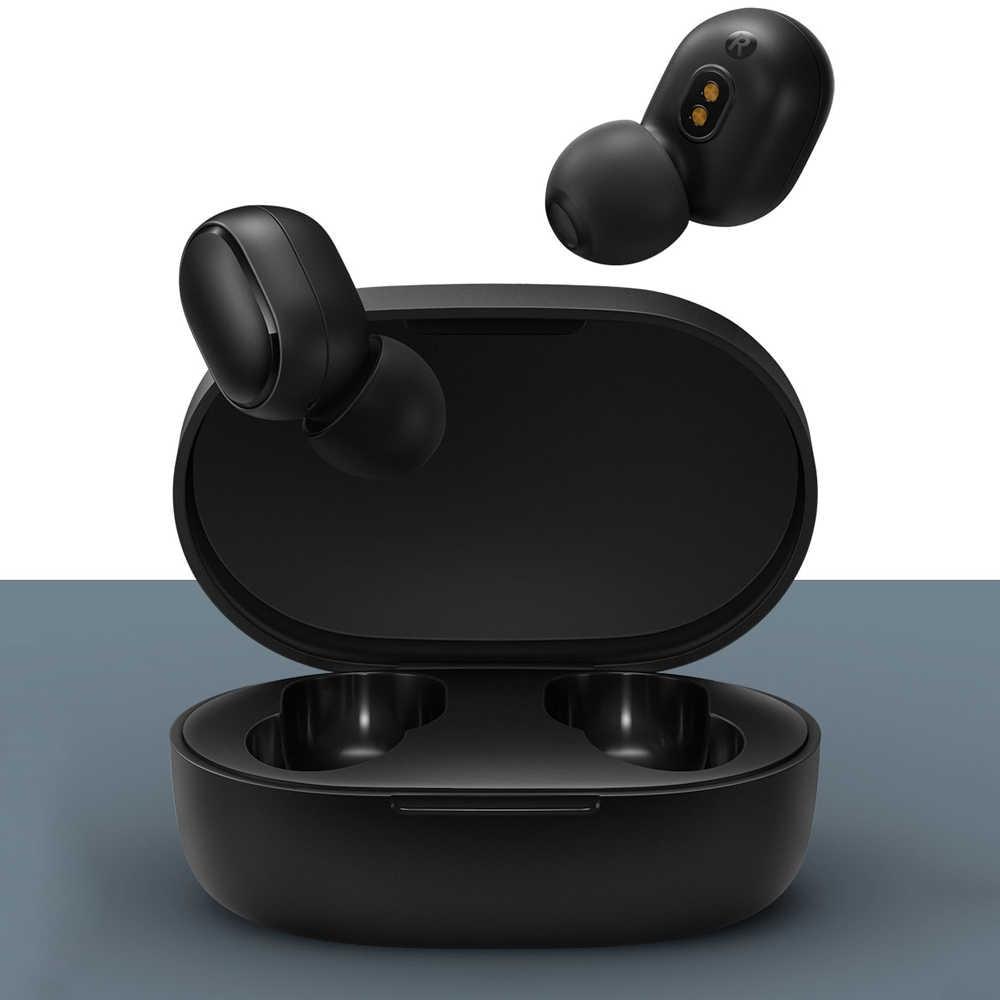 Xiaomi Redmi Airdots 5.0 słuchawki Bluetooth TWS bezprzewodowe słuchawki na całym świecie 3D bas stereo Earphoens zestaw słuchawkowy etui z funkcją ładowania z mikrofonem