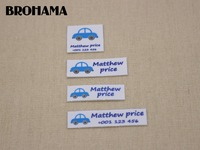 Custom Name Label Children S Clothing Label Ironing Label Boy And Girl Tag Blue Car Label