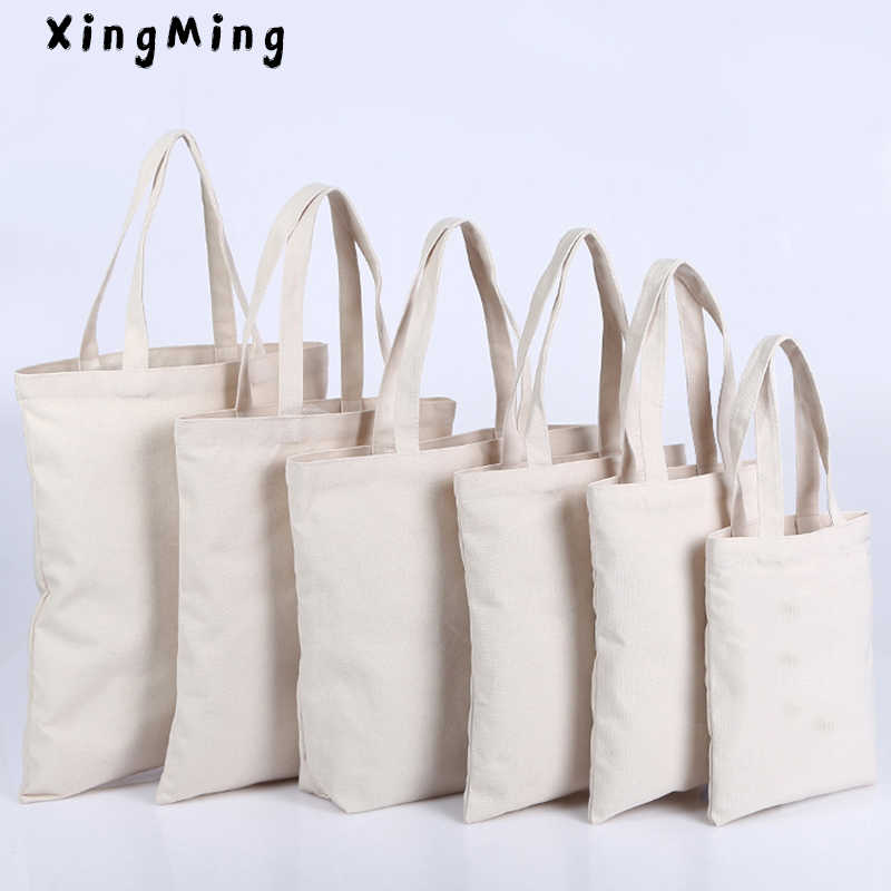 XINGMING High-Quality Women Men Handbags Canvas Tote bags Reusable Cotton grocery High capacity Shopping Bag