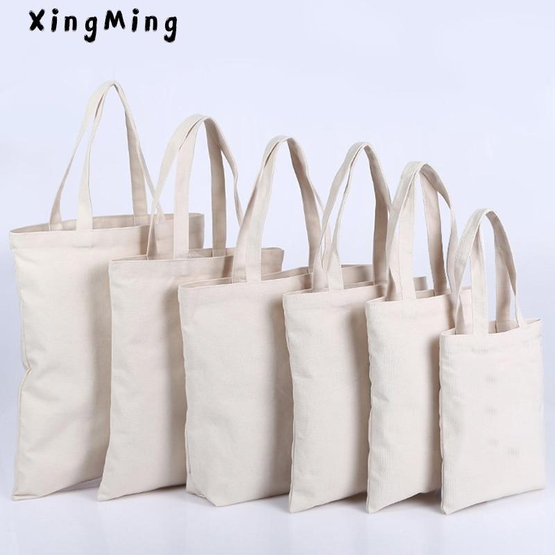XINGMING High-Quality Women Men Handbags Canvas Tote Bags Reusable Cotton Grocery High Capacity Shopping Bag