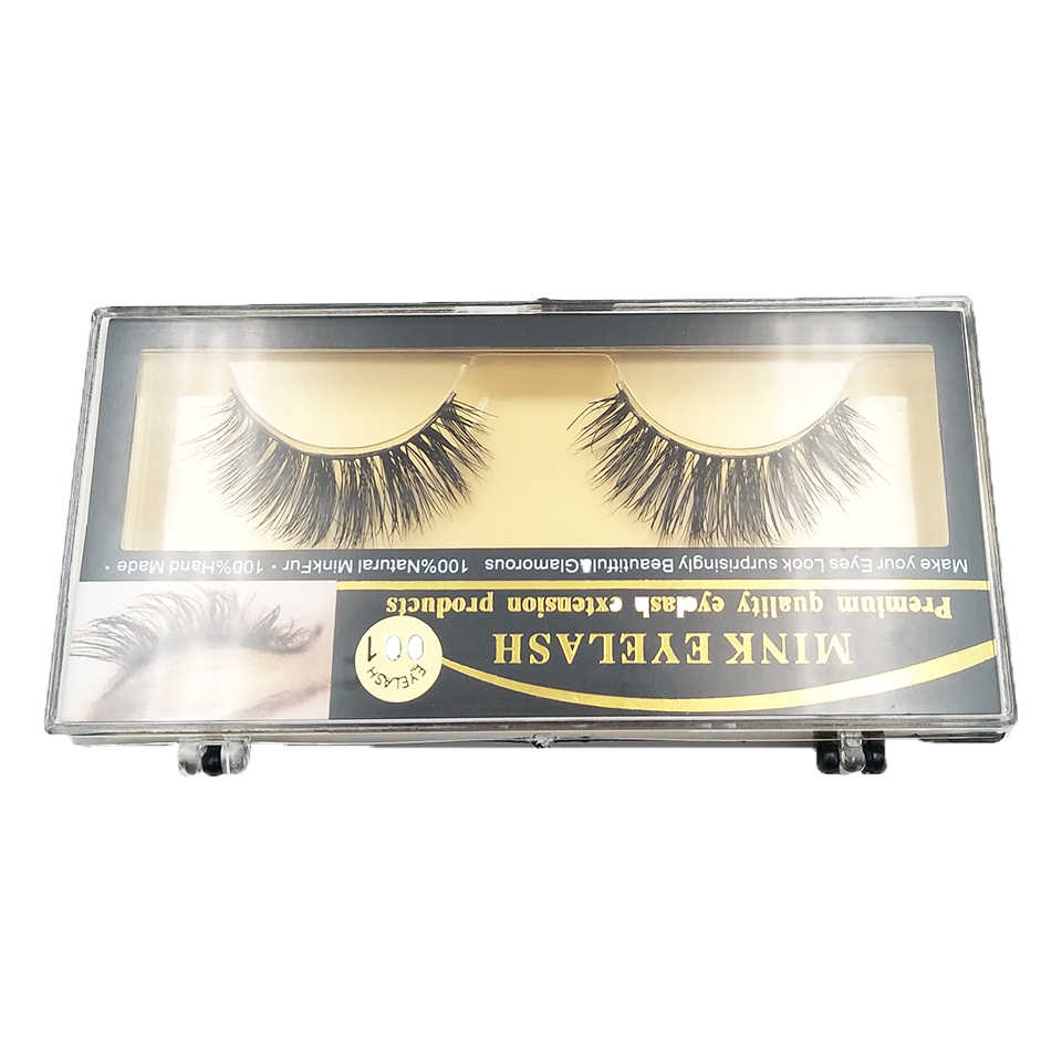 YAQIMEIER 100% Mink Lashes Korean Trendy Long / Thick /Volume 3D False  Eyelashes Private Label 1 Pairs Lashes Suppliers