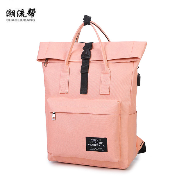 1ac6c988c712 USB Unisex Design Backpack Book Bags for School Backpack Casual Rucksack  Daypack Oxford Canvas Laptop Fashion Woman Backpacks