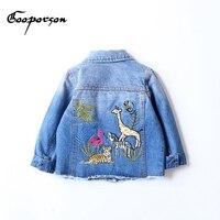 GOOPORSON Autumn Jeans Jacket Kids Girls Boys Casual Children Denim Windbreaker For Girls Long Sleeve Kids